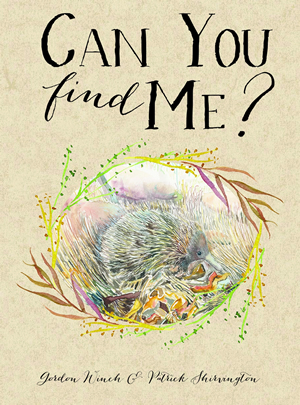 Cover of a book showing an echidna in some scrub