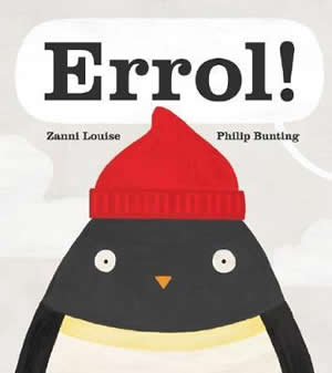Cover of a book with a drawing of a penguin wearing a red beanie
