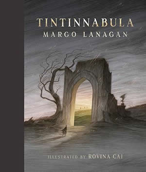 Cover of a book showing the ruins of a building with a small figure approaching the entry